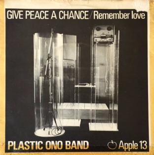 "Plastic Ono Band (John Lennon) - Give Peace A Chance (7"") (VG-EX/G)"